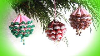 christmas ornaments, DIY tutorial, Christmas balls on the Christmas tree