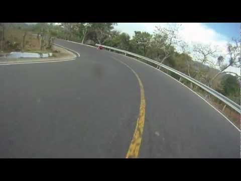 HORRIBLE longboard crash! Longboarders Vs.Guardrail! Broken Femur