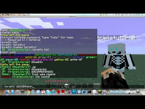 How to install and use prefix plugin for minecraft server | Craftbukkit (PC or M