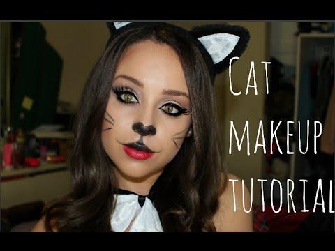 cat halloween makeup tutorial ♡ last min ideas  youtube