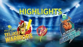 CCL 5 Telugu Warriors Vs  Karnataka Bulldozers Highlights