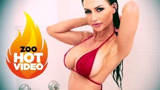 The GC's Rosanna Arkle wet in the shower! OMFG SEXY! only at ZOOTUBE | Rosanna Arkle