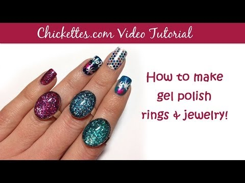 How to make gel nail polish rings & jewelry