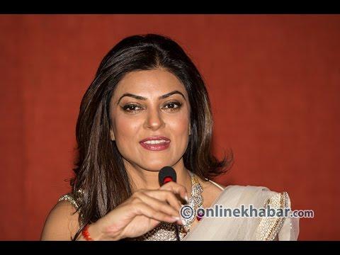 Indian Actress Sushmita Sen Talking With Media At Kathmandu video