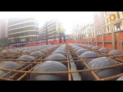 Как делают бетонные перекрытия с шарами БаблДэк, пустотные