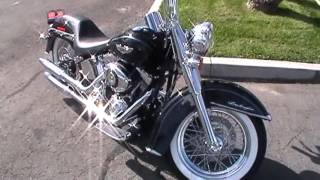2013 FLSTN, HARLEY DAVIDSON, DELUXE, CHROME FRONT END, 16 INCH APES, LOWERED FRONT AND REAR