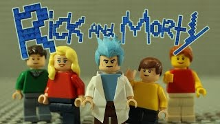 Rick and Morty Intro In LEGO (Stop-motion)