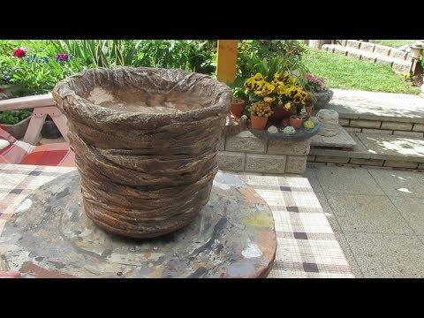 Gartendeko Pflanzkübel Als Baumstumpf Aus Beton Selber Machen