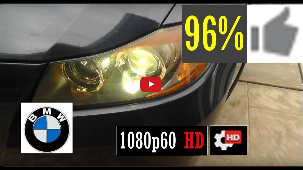 How To Replace Low Beam Xenon HID Bulbs 2006 BMW 330i YouTube
