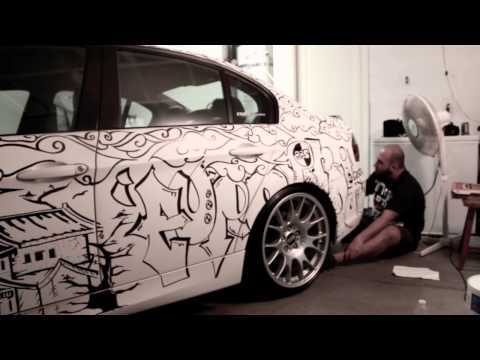Ronn s BMW  E90 + Tony Mora s Sharpie art