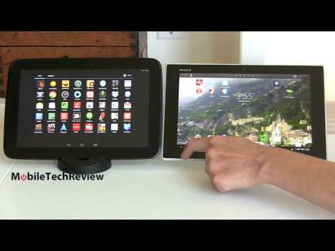 Sony Xperia Tablet Z vs  Google Nexus 10 Comparison Smackdown