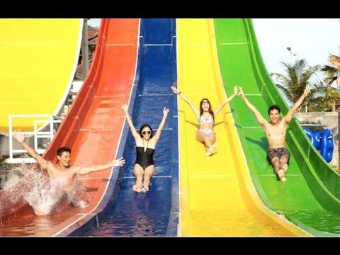 SUPER FUN - Circus Water Park - WATERBOM - Tourism Destination of Bali Indonesia [HD]