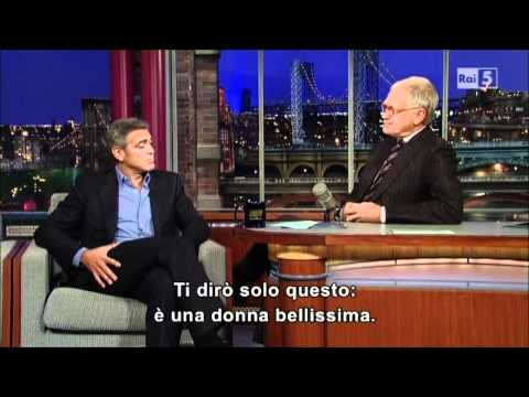 George Clooney al David Letterman Show