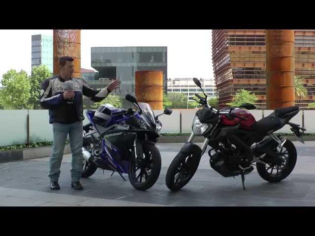 Vid�o Essai Yamaha YZF-R 125 et MT-125 : Coup double chez les 125 !