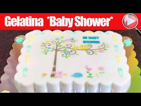 Gelatina de Baby Shower con Transfer para Niño/Niña - Recetas en Casayfamiliatv