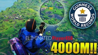 4000M NOSCOPE KILL WORLD RECORD [NOT CLICKBAIT] - Fortnite Best & Funny Moments (Fortnite BR)