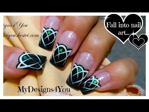 Кельтские узоры на ногтях