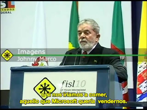 Lula habla sobre el Software LIbre (traducido español)