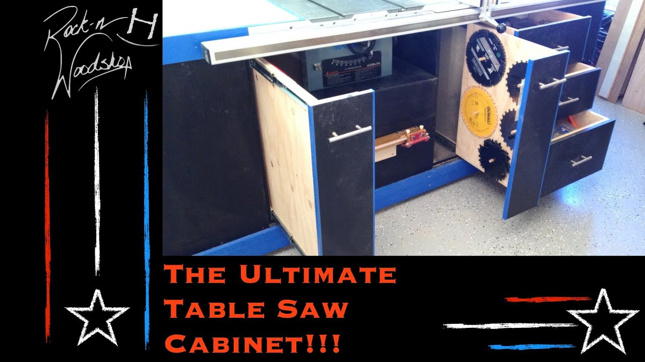 garage workbench plans ideas - The Ultimate Table Saw Cabinet