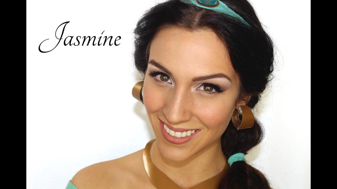 Maquillage d 39 halloween princesse jasmine aladdin youtube - Maquillage princesse disney ...