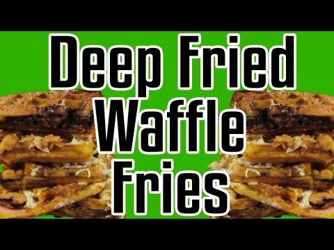 Deep Fried Waffle Fries - Epic Meal Time