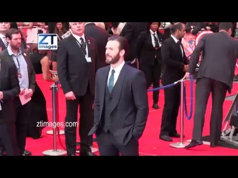 Chris Evans at the film premiere Captain America: Civil War in London, UK