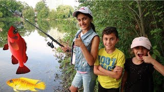 Kids First time Catching a Fish! Family Fun Vlog