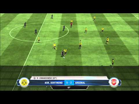 FIFA 13 PS3 Demo Gameplay HD -  Borussia Dortmund vs. Arsenal London