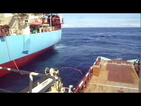 AHTS Maersk Promoter Offshore Work at FPSO Maersk Ngujima-Yin