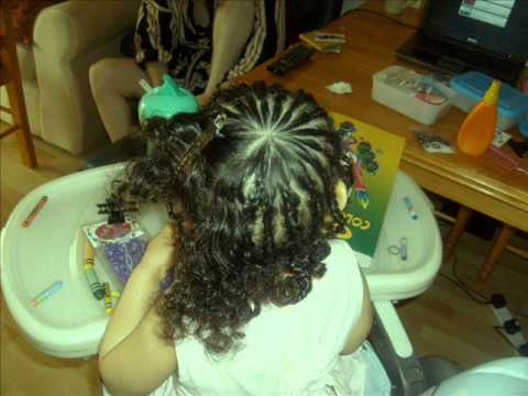 Braiding And Beading Mixed Race Curly Hair Tutorial Kids