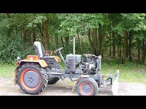 eigenbau traktor mit opel corsa motor und schiebeschild