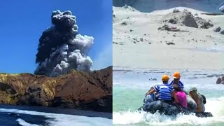 Tourists Fleeing New Zealand Volcano Rescue Stranded People