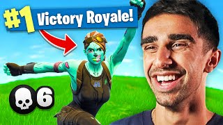 Reacting to my *FIRST* FORTNITE WIN