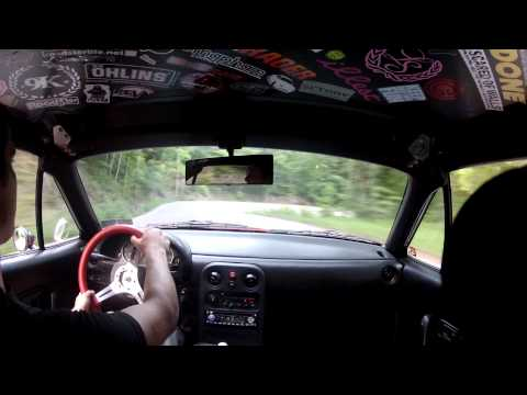 Tail of Dragon in car GOPRO