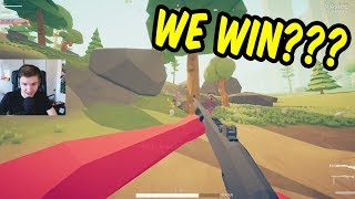 Somehow we won this... - Totally Accurate Battlegrounds w/Teo, Paddy, Alex & Katie
