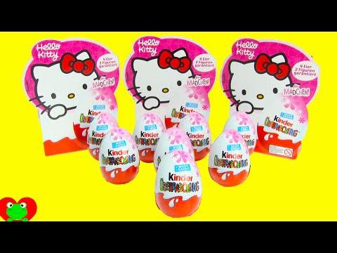 Hello Kitty Kinder Surprise Eggs