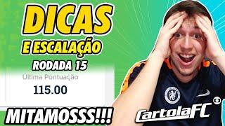 DICAS DO CARTOLA FC 2019 - 15ª RODADA   MITAMOS DE NOVO!!!
