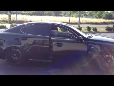 Lexus ISF vs Mustang GT - No Spray Required.