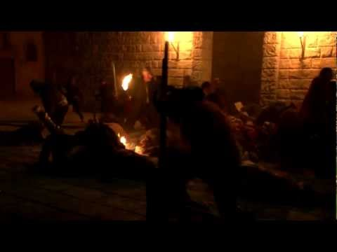 SWORD FIGHT STUNTS A.R.G.O. FILM WARRIORS: FENCING FIGHT SCENE - BORGIA 1 (2011)