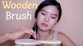 ASMR ~ One Wooden Brush & 100% Tingles ~ Tapping, Scratching