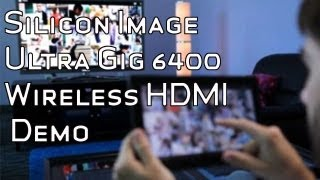 Silicon Image Ultra Gig 6400 WirelessHD Transmitter Demo - GDC 2013