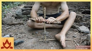 Primitive Technology: Cord drill and Pump drill