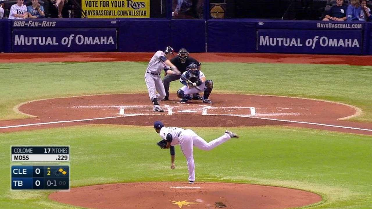 CLE@TB: Moss' two-RBI double gives Indians early lead