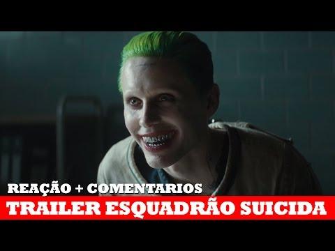 TRAILER DO CORINGA EM ESQUADRÃO SUICIDA! | Reação + Comentários