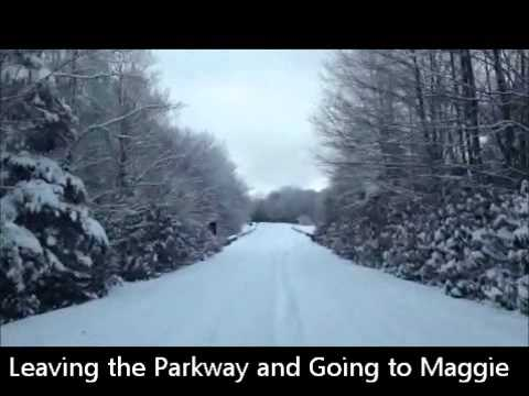 Snow in Maggie Valley, NC on Feb. 13, 2014