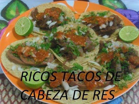 RICOS TACOS DE CABEZA DE RES- TACOS AL VAPOR (LOS ANGELES COCINAN )