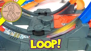 Hot Wheels Mega Loop Mayhem Track Set - Multiple Camera Views
