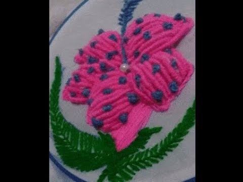Beautiful & Easy Hand Embroidery Thread  3D Design : 2018