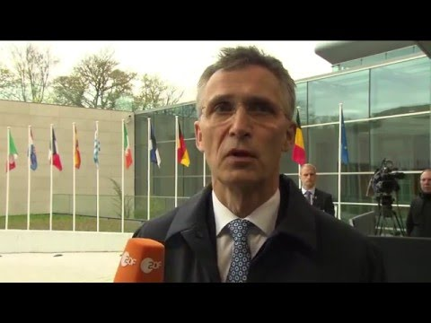 Doorstep by NATO Secretary General Jens Stoltenberg at EU Foreign Affairs Council, 19 APR 2016