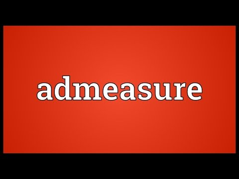 Header of admeasure